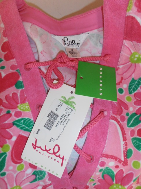 Lilly Pulitzer 3/4 Sleeve Cover Up Terry Cloth New With Tag Tunic Image 2