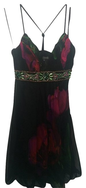 Sue Wong Beaded Flowy Chiffon Dress