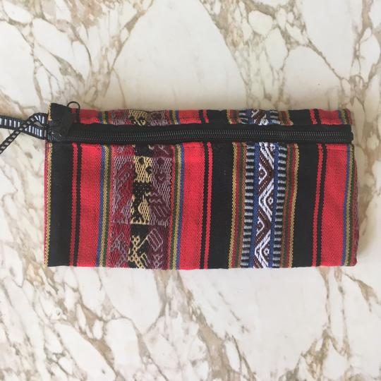 Urban Outfitters Woven Printed Striped Wristlet in Red, Black Image 1