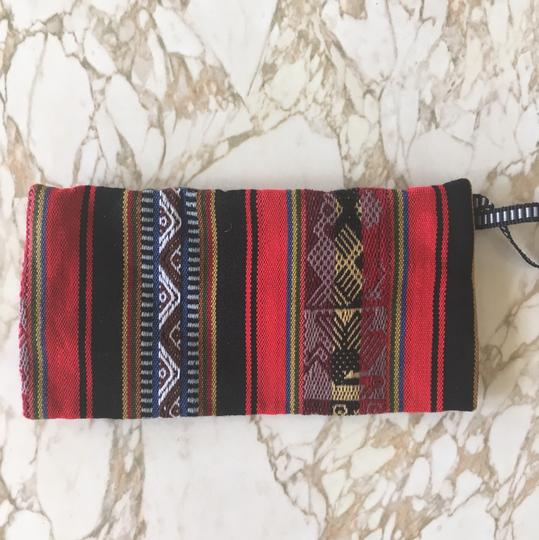 Urban Outfitters Woven Printed Striped Wristlet in Red, Black Image 2