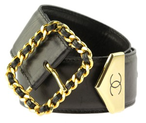 Chanel Chain Square Buckle Leather