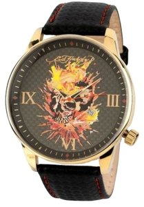 Ed Hardy Ed Hardy Male Apex Flaming Skull Watch AX-FS Black Analog