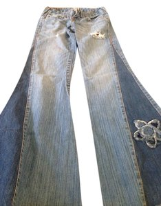 True Religion Bellbottoms Special Edition Flare Leg Jeans-Distressed