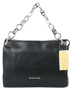 Michael Kors Mk Gianna Leather Messenger Black Messenger Bag