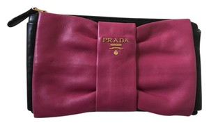 Prada Pink and Black Clutch