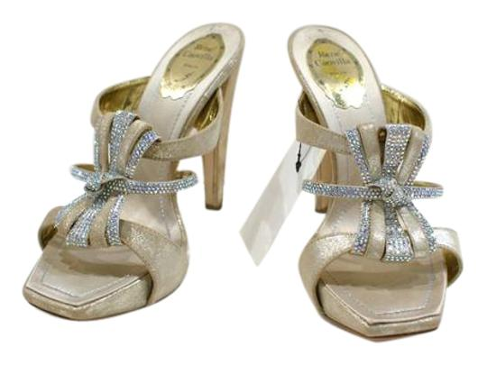 Preload https://img-static.tradesy.com/item/21749197/rene-caovilla-gold-metallic-suede-and-clear-crystal-heels-formal-shoes-size-eu-385-approx-us-85-regu-0-1-540-540.jpg