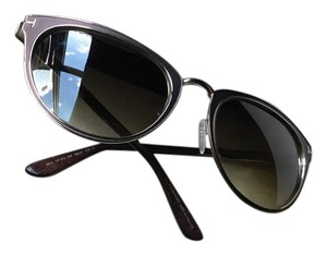 Tom Ford Tom Ford Cateyed Brown Sunglasses FT0373