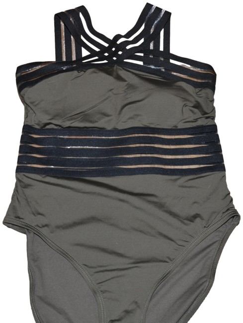 Preload https://img-static.tradesy.com/item/21749234/kenneth-cole-olive-black-stompin-in-stilletos-illusion-striped-swimsuit-m-one-piece-bathing-suit-siz-0-3-650-650.jpg