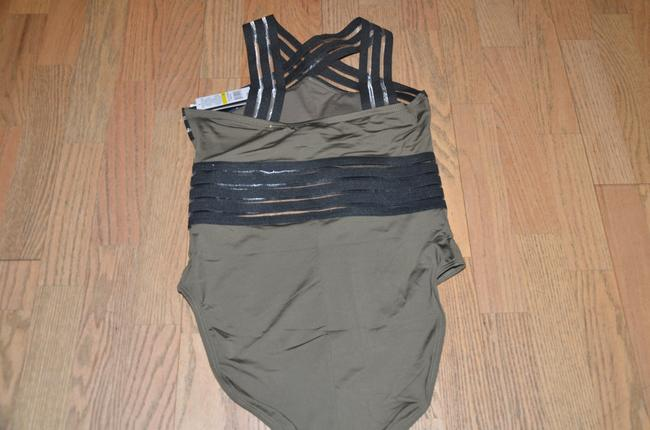 Kenneth Cole NWT KENNETH COLE Stompin' in Stilletos Illusion-striped Swimsuit M Image 4