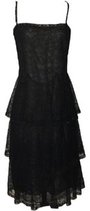 Chanel Lace Chambray Tiered Small Dress