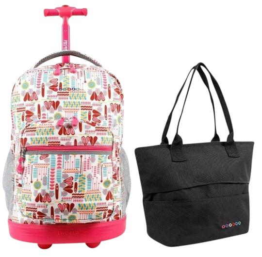 Preload https://img-static.tradesy.com/item/21749292/sunrise-18-rolling-lola-lunch-tote-set-neon-cubesblack-backpack-0-1-540-540.jpg