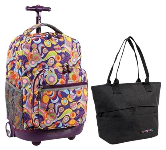 Preload https://img-static.tradesy.com/item/21749335/sunrise-18-rolling-lola-lunch-tote-set-funkyblack-backpack-0-1-540-540.jpg