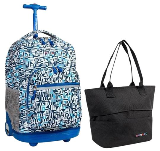 Preload https://img-static.tradesy.com/item/21749434/sunrise-18-rolling-lola-lunch-tote-set-geoblack-backpack-0-1-540-540.jpg