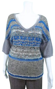 Free People V-neck Sequins Sweater