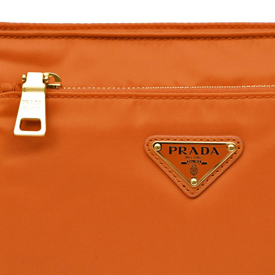 d7d0c22fe717 Prada Crossbody Handbag Logo Purse Orange Messenger Bag Image 5. 123456