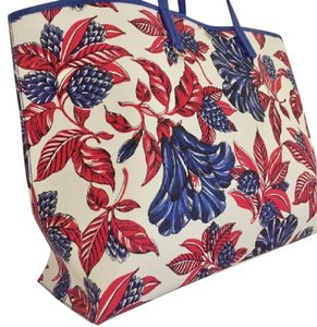 Tory Burch Large Tote in Vermillion Floral