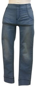 """Free People Cropped Jeans Inseam 25"""" Rise 8"""" Skinny Pants Blue"""