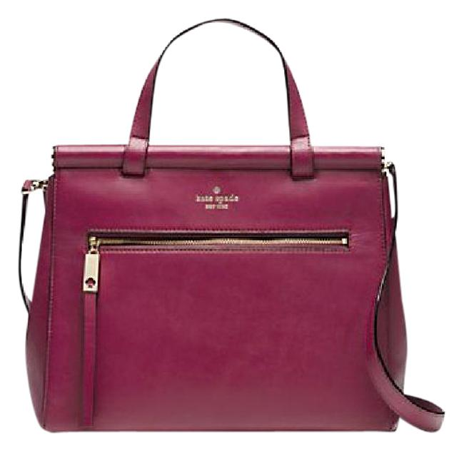 Item - Royal Pl Rare Cherise New In Packaging. Fab Color Red Plum Leather Tote