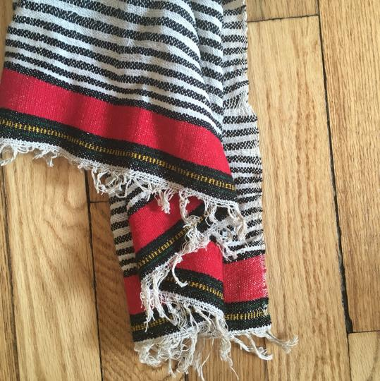 Madewell Woven Cotton Striped Fringed Scarf Image 1