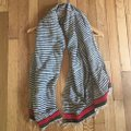 Madewell Woven Cotton Striped Fringed Scarf Image 2