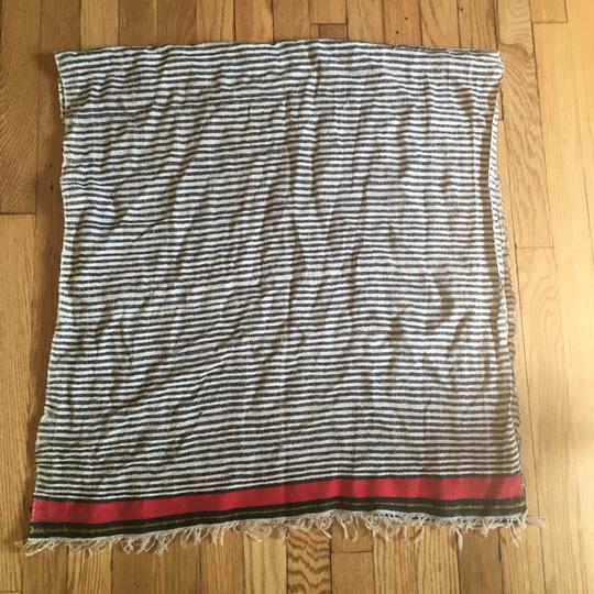 Madewell Woven Cotton Striped Fringed Scarf Image 3