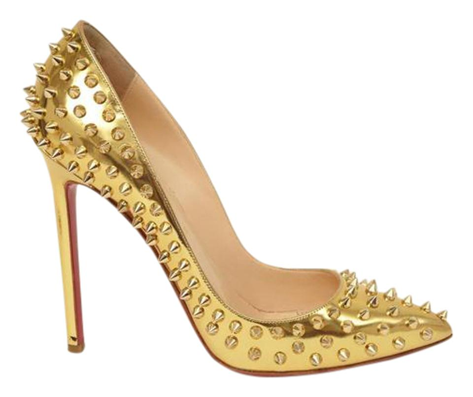 d23842c869a Christian Louboutin Gold Pigalle Spikes 120 Studded High-heel Pumps Size US  8.5 Regular (M, B)
