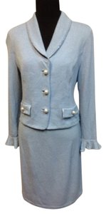 St. John St. John Evening by Marie Gray Skirt Suit w/ Irridescent beaded trim and pearl/rhinestone buttons