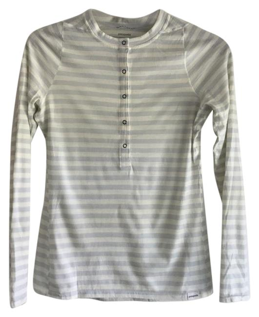 Item - White and Grey Midweight Merino Baselayer Activewear Top Size 4 (S, 27)
