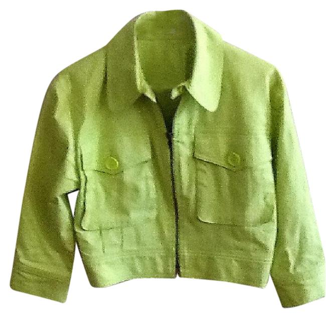 Item - Lime Tailored Jacket Size 8 (M)