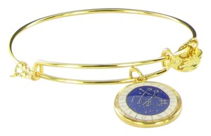 Alex and Ani Gemini Celestial Wheel Gold CharmBangle Bracelet A15EB62YG NWT & Box