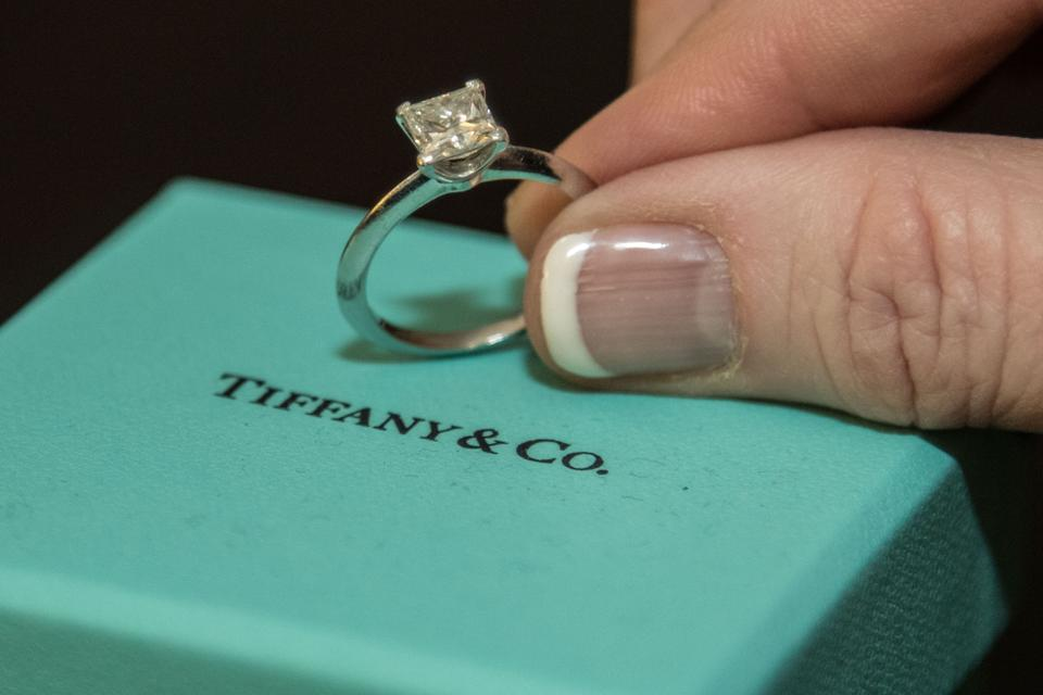 Tiffany Amp Co H Princess Cut Platinum Engagement Ring