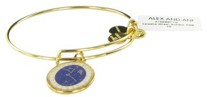 Alex and Ani Scorpio Celestial Wheel Gold Charm Bangle Bracelet A15EB67YG NWT & Box