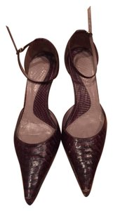 Kenneth Cole Pointed Toe Size 7.5 Brown Snakeskin Print Pumps