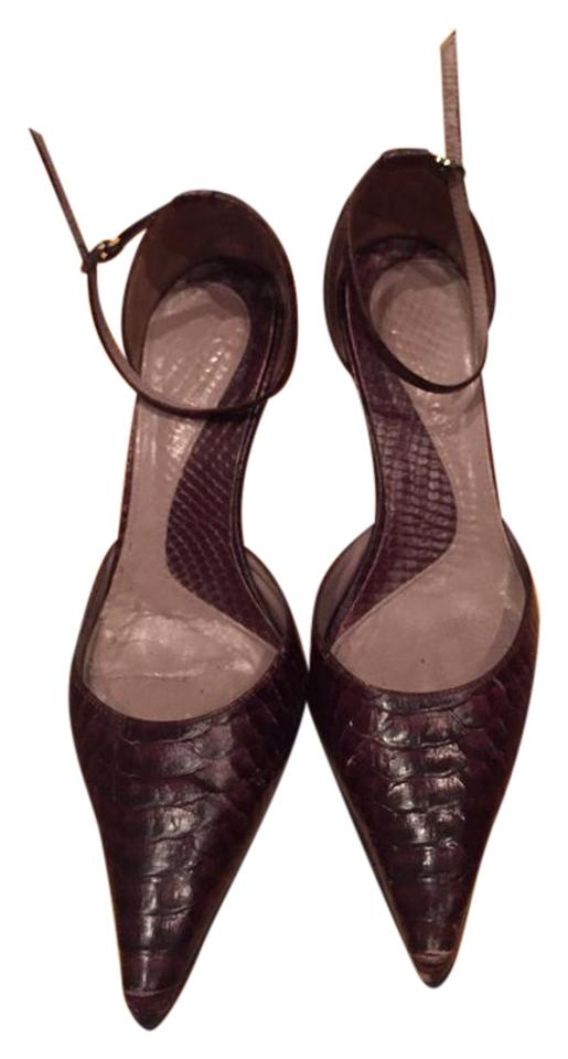 Kenneth Cole Brown Brown Cole Snakeskin Print Pumps 80687c