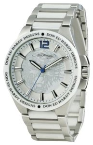 Ed Hardy Ed Hardy Male Hampton Watch HM-WH White Analog