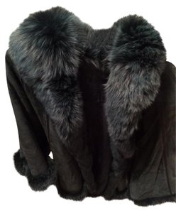 Danish Designer Suede Fur Cape
