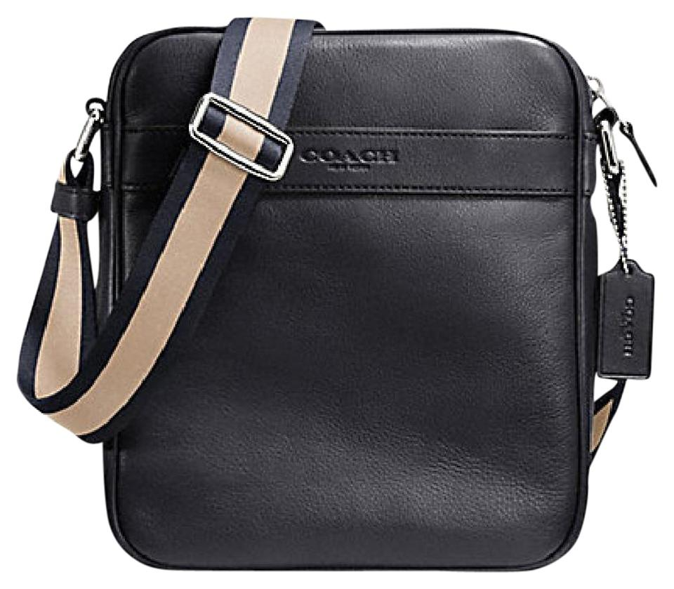 Coach F54782 Flight Crossbody In Smooth Midnight Blue Leather Bag Mens 54782 Messenger