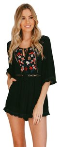 Hello Molly Floral Embroidered Embroidered Dress