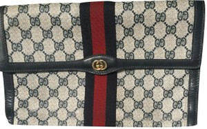 0567633b1befd2 Gucci Cosmetic Bag/Clutch Great For Travel Dressy Or Casual Early Excellent  Vintage blue large