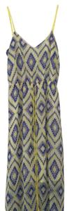 yellow and blue Maxi Dress by Dolce Vita