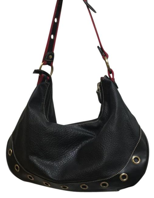 Item - Black and Red Leather Hobo Bag