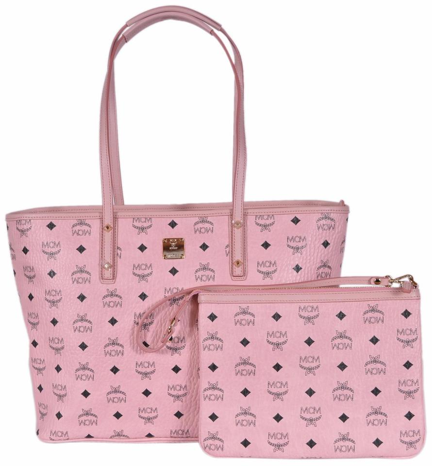 Mcm Purse Per Handbag Tote In Pink