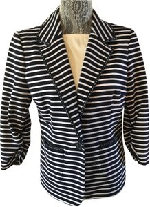 Laundry by Shelli Segal Laundry by Shelli Segal Striped Ponte Jacket, Navy/White