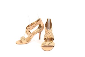 Twelfth St. by Cynthia Vincent Studded Leather Slim Tan Sandals