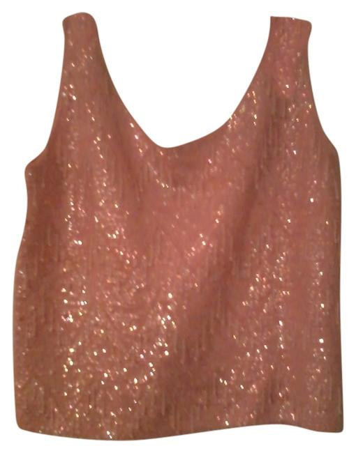 Other Elegant Sequins Top Pink Beaded