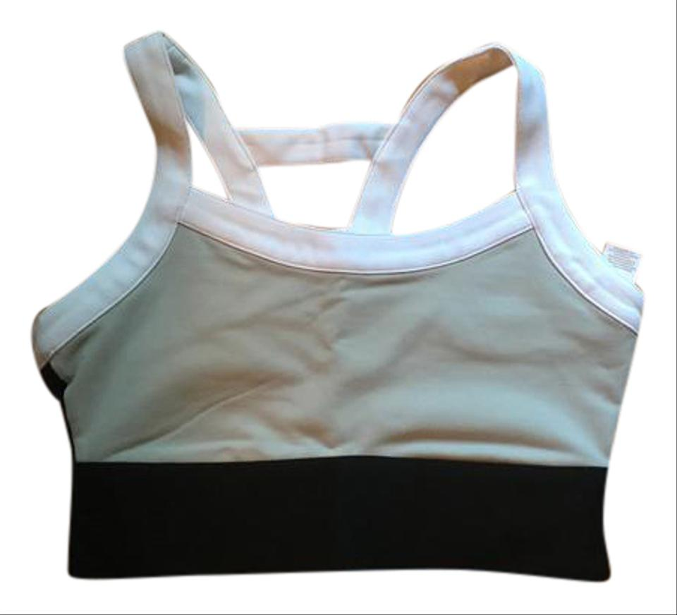 12d5b15b048f7 Fabletics Black White and Gray Robyn High Support Sports Bra ...