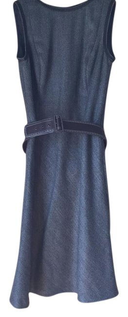 Item - Grey and Black Mid-length Work/Office Dress Size 8 (M)