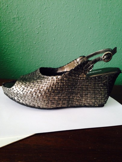 Audrey Brooke Bronze Wedges Image 2