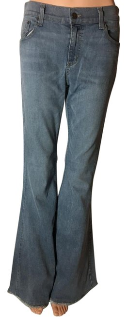 Item - Blue Light Wash Low Rise Bell Bottom Fit Flare Leg Jeans Size 31 (6, M)