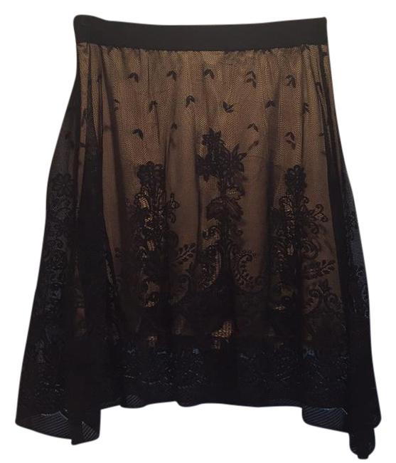 Item - Black Nude And Lace Overlay Skirt Size 8 (M, 29, 30)